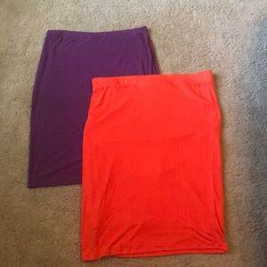 Stretch skirt pair